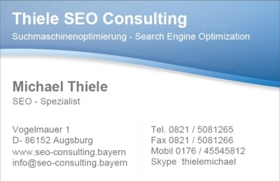 SEO Consulting - Michael Thiele