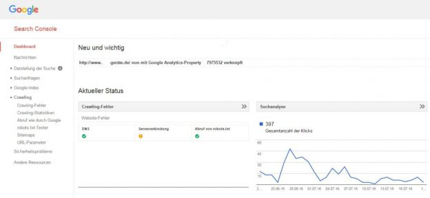 SEO mittels Search Console von Google