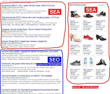 SEA / SERP - Search Enging Adwortising / Search Engine Result Page
