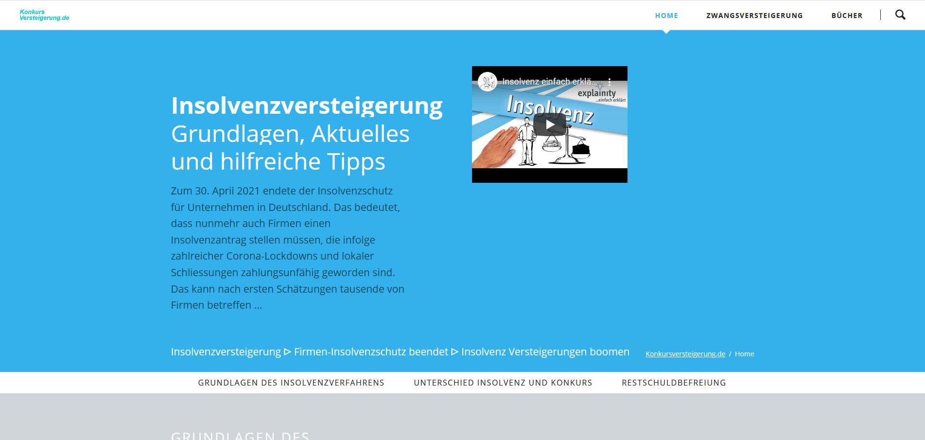Insolvenzversteigerungen auf Konkursversteigerung.de